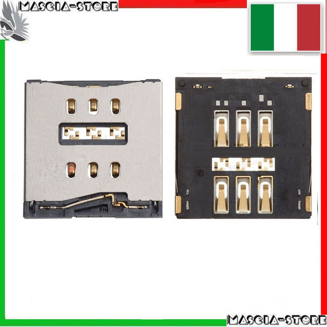 supporto lettore scheda slot nano sim card iphone 6 plus 5 5 masciastore. Black Bedroom Furniture Sets. Home Design Ideas